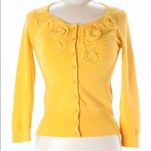Rosie Neira Vintage Inspired Floral Neck Cardigan
